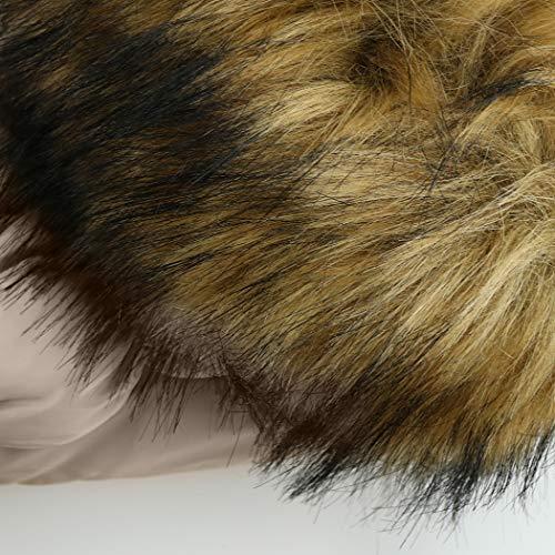 SMITHROAD Kinder Mädchen Winterjacke mit Kunstpelz Tailliert Lang Jacket Wintermantel Parka Oberbekleidung,Beige,EU 104-110,Herstellergröße 110 - 8