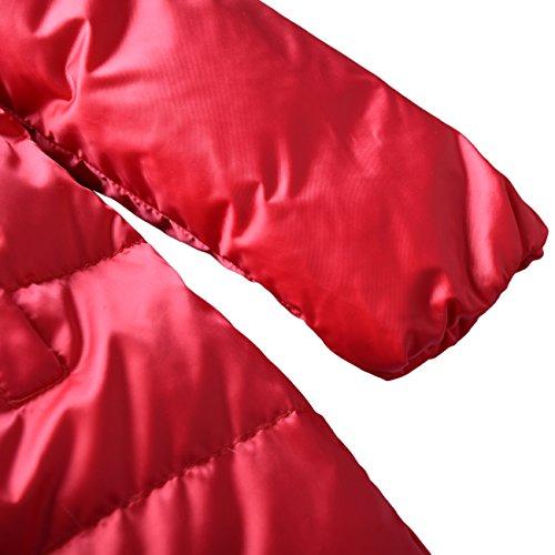 Zoerea Kinder Junge Mädchen Daunenjacken Wasserabweisend Daunenmantel, Gr.-Etikett 110 (Körpergröße 95-105cm), Leidenschaft Rot - 6