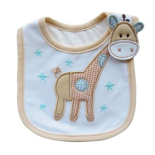 Wasserdicht Baby Lätzchen Baumwolle Essen Sabberlätzchen Babylätzchen (Giraffe)