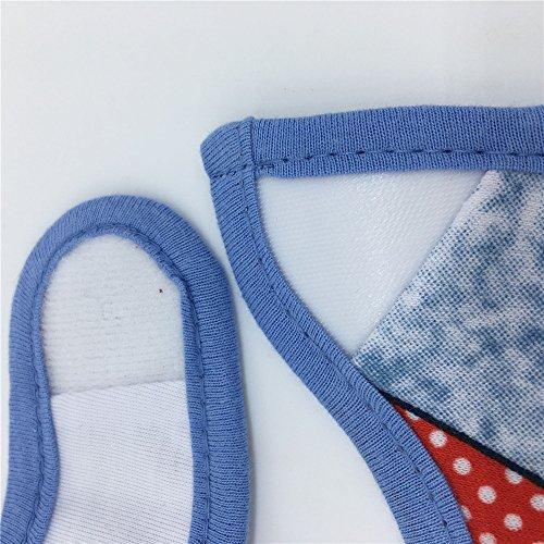 Haimoburg 9 Pack Wasserdicht Babylätzchen Baumwolle Klettverschluss (Jungen 9 Pack) - 6
