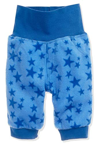 Schnizler Unisex Baby Hose Fleece Pumphose Babyhose Sterne mit Strickbund, Oeko-Tex Standard 100 Blau (Blau 7), 80 - 2