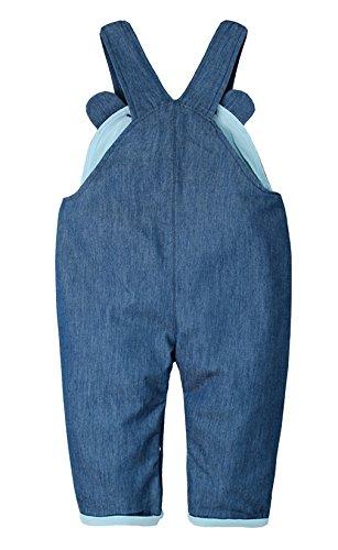 EOZY Baby Latzhose Bärchen Kids Overall Jeanshose mit Hosenträger Blau 80 - 2