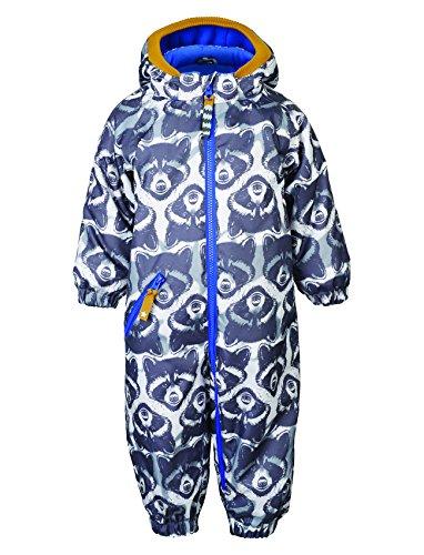 Racoon Baby - Jungen Schneeanzug RACE BABY (9.000 Wassersäule), Gr. 74, Mehrfarbig (Ebony EBO)