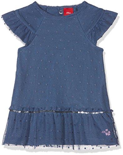 s.Oliver Baby-Mädchen Kleid 65.804.82.2720, Blau (Dark Blue 5724), 62