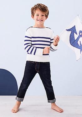 hessnatur Schmale Jeans aus Bio-Baumwolle, Größe 164, blau