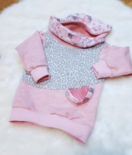 Hoodie Mädchen Pullover Baby Kinder Leopard Rosa
