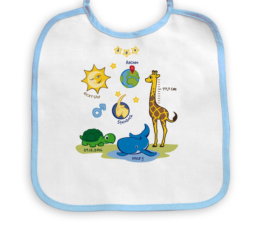 Babylätzchen (personalisiert) - Motiv Tiere Junge