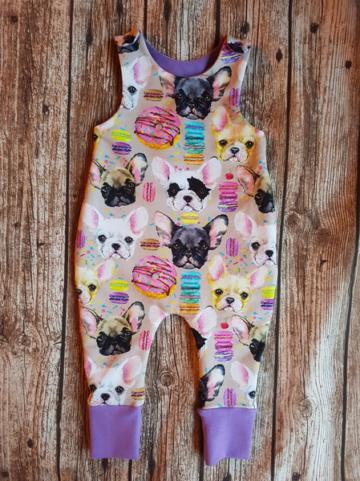 Babystrampler Französische Bulldogge 68