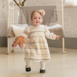 Baby Kleid aus natur Leinen