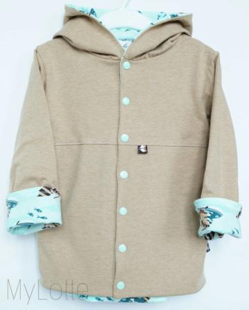 Jersey Jacke - beige Waschbär 92