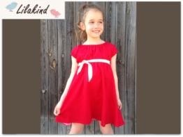 Kleid Sommerkleid Punkte Rot Gr. 110-128