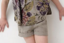 Mädchen 116-128 Leinen Shorts, kurze Sommer Hose
