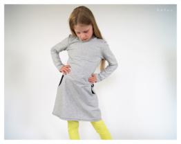 Sweat Kleid 122 128 Kinderkleid Sweatkleid Punkte