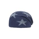 bellybutton Jungenmütze mit Sternen, Fliessfutter - dusty blue