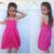 Kleid Sommerkleid Pink Blumen Gr. 110-128