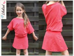 Kleid Sommerkleid Rot Weiß Punkte 98-128
