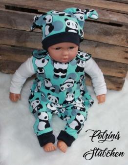 Babystrampler kleiner Panda mit Knotenmütze