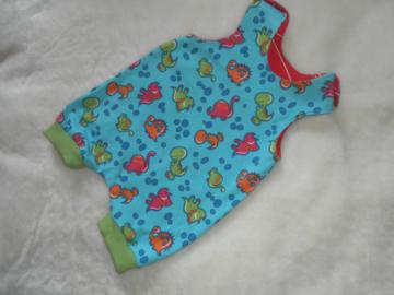 kurzer Babystrampler Dinos Gr. 62 UNIKAT