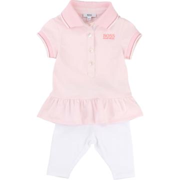 BOSS Kids Girls Set in rosa u. weiß