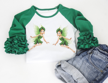 T-shirt Mädchen -Rüschen