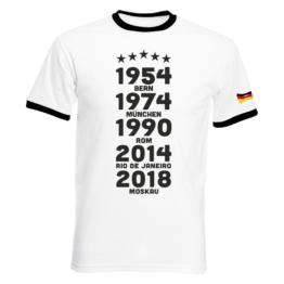 WM 2018 Kinder T-Shirt - WM Titel Jahre - Fußball
