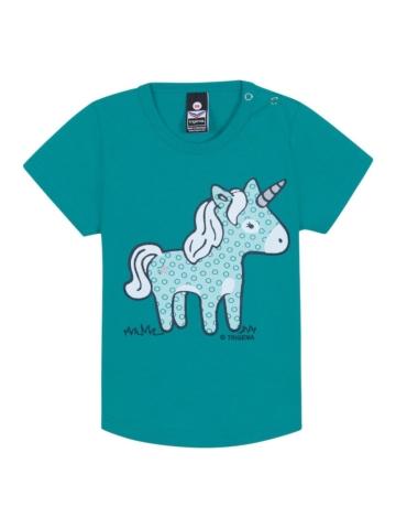 Baby T-Shirt Baby Einhorn Trigema lagune