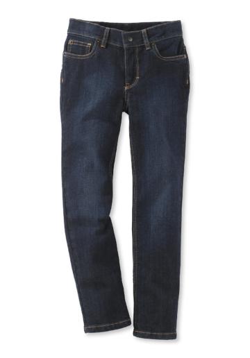 hessnatur Kinder Schmale Jeans aus Bio-Baumwolle – blau – Größe 110