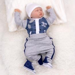 Baby Set Jungen 4 Teile Jacken-Optik grau