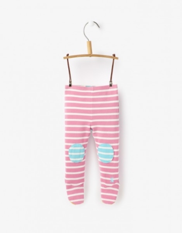 Joules Baby Hose Patacake mit Fuß in Rosa  62-68