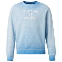 TOM TAILOR Kapuzenpullover Sweatshirt mit Print blau 164