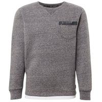 TOM TAILOR Sweatshirt Sweatshirt mit Underlayer grau 164
