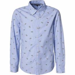 Tommy Hilfiger Kinder Langarmhemd, hellblau