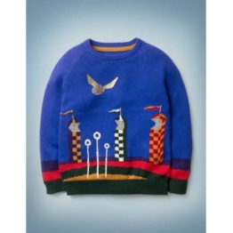 Mini Blau Quidditch-Pullover Jungen Boden, 128, Blue