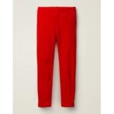 Mini Paprikarot Samt-Leggings Mädchen Boden, 128, Red